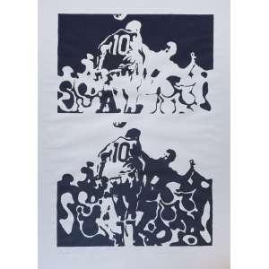 Maurício nogueira Lima - Pelé - 49-50. Serigrafia, 44x66 cm, 1982, A.C.I.D. Sem moldura