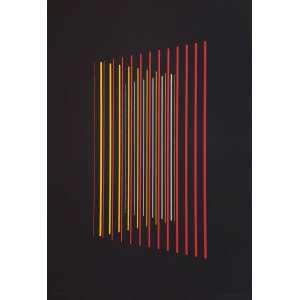 Lothar Charoux - Sem título - 20-50. Serigrafia, 47x33 cm, 1974, A.C.I.D. Com moldura