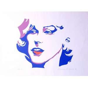 Maurício Nogueira Lima - Marlyn Monroe - 6-20. Serigrafia, 44x66 cm, 1982, A.C.I.D. Sem moldura