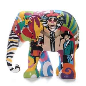 Obra: Tupiniquim / Artista: Lobo<br /><br />Entidades beneficiadas: Act to Impact Program e Elephant Family (www.elephant-family.org)<br /><br />Uso: Interno e Externo - Medidas: Altura 146 cm - Comprimento 166 cm - Largura 75 cm - Peso 35 kg<br /><br />Materiais: Fibra de vidro, tinta acrílica e verniz PU.<br /><br />*A escultura de elefante é leiloada sem a base*<br />