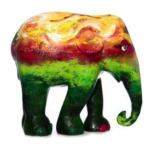 Obra: Iamandú Verdefante / Artista: Carolina Massad<br /><br />Entidade beneficiada: Elephant Family (www.elephant-family.org)<br /><br />Uso: Interno e Externo - Medidas: Altura 146 cm - Comprimento 166 cm - Largura 75 cm - Peso 35 kg<br /><br />Materiais: Fibra de vidro, tinta acrílica e verniz PU.<br /><br />*A escultura de elefante é leiloada sem a base*