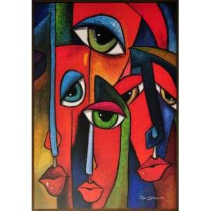 Rose Bittencourt - Caras e bocas - Acrílica sobre tela - 80 x 120 CM - A.C.I.D