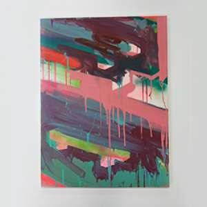 David Magila - Tinta acrílica e spray sobre tela - 60x80cm - Com certificado de autenticidade
