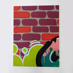 Thiago Toes - Tinta acrílica e spray sobre tela - 60x80cm - Com certificado de autenticidade