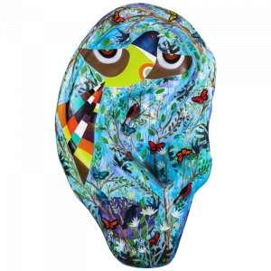Obra: A Natureza<br/><br />Artista: Reynaldo Berto <br/><br />Inspiração do projeto: Natureza - trazer o prazer que é poder ouvir A NATUREZA. <br/><br />Medidas orelha: 160x95x25cm (AxLxP) <br/><br />Medidas base*: 80x60x40cm (AxLxP) <br/><br />Materias: Fibra de Vidro, Tinta Acrílica e Verniz PU. <br/><br />Pode ser exposta em ambiente externo. <br/><br />*A base da escultura também faz parte desse lote. <br/><br />