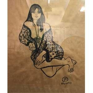 Patricia Magano - 2003, Garota de papel, Tinta indiana sobre papel kraft - medida em cm: 163 x 113