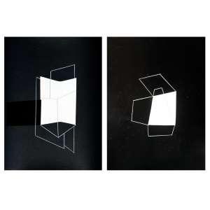 Bettina Vaz Guimarães - 2018, Dupla Transparente, Tinta acrílica sobre papel - medida em cm: 31 x 51