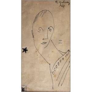 Raphael Galvez - 1967, Sem título, Nanquim sobre papel - medida em cm: 18,5 x 10