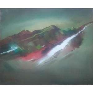 Neusa Nogueira - 1988, Nascente, Óleo sobre tela - medida em cm: 50 x 60