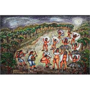Nilson Pimenta - Sem data, Carnaval no Pantanal, Acrílica sobre tela - 44 x 61 cm