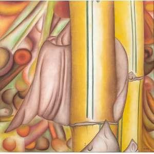 Antonio Henrique Amaral - óleo sobre tela, 130 x 130 cm Sem título, série Bambus 1978