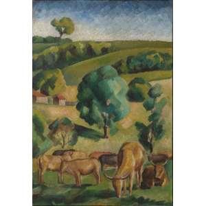 Antonio Gomide - óleo sobre tela, 45 x 30 cm Paisagem com animais década de 1920 - reproduzido no catálogo da exposição António Gomide - quatro décadas de modenidade, Dan Galeria 2001, p.23