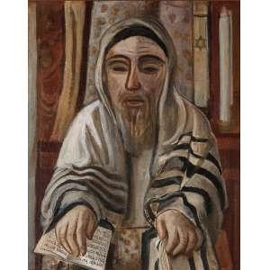 Lasar Segall - óleo sobre tela, 64 x 53 cm Judeu com livro de orações circa 1954
