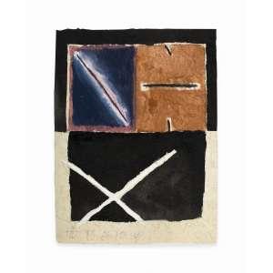 José Leonilson - aquarela, guache, nanquim e lápis de cor sobre papel reciclado, 30,5 x 23 cm Sem título 1980