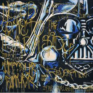 Dal - Never come to the Dark Side - Acrilica sobre tela - 100 x 100 cm - Assinatura canto inferior direito (GACC)