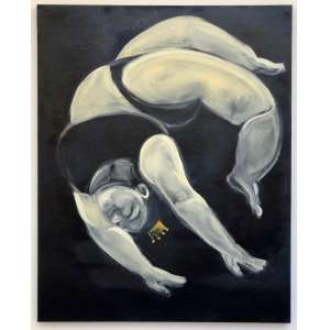 Erica Iassuda - Leveza, 2020. Acrílico e Óleo sobre tela, 100cm x 80cm, 1kg, tela em chassi, tipo painel