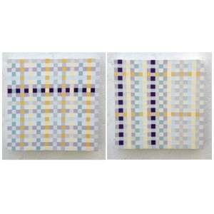 Monica Tinoco - Sem Título, 2013 - diptico acrílica sobre tela 40x40 cada sem molduras.