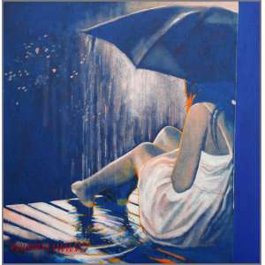 Newton Mesquita - 2018, Gentle Rain, Acrílica sobre tela, 70x70cm