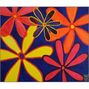 Camila Boranga - Sem data, Flores Astrais, Acrílica sobre tela, 60x70cm