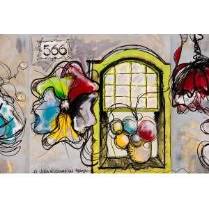Anselmo - Pintura sobre tela - tamanho 1x1m - técnica mista