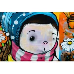 Hope - Pintura sobre tela - tamanho 1x1m - técnica mista