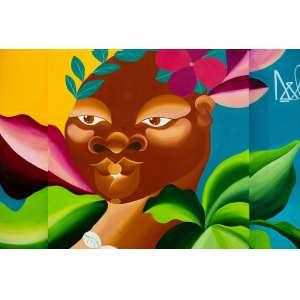 Lais da Lama - Pintura sobre tela - tamanho 1x1m - técnica mista