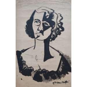 Aldemir Martins - Mulher cubista; 60X40; 1948; Nanquim