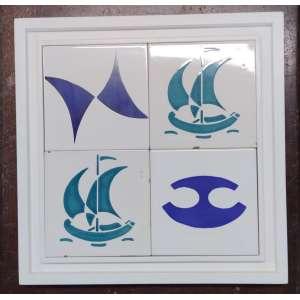 Carybé - Painel de Azuleijos com desenhos originais da déc. 60; Presenteados para Jorge Amado decorar sua casa em Salvador, Executado pelo ateliê Udo Knoff; 32X32; Obs: Raridade