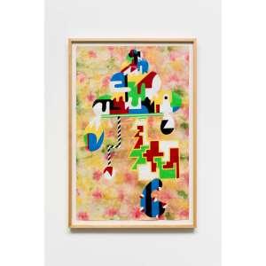 avaf - Pleasure Vessel (Ice Cream Platter), 2016 - Acrílica sobre tela -com moldura - 100 x 67 cm<br><br><b>INGLÊS</b><br>avaf - Pleasure Vessel (Ice Cream Platter), 2016 - Acrylic on canvas - with frame - 100 x 67 cm