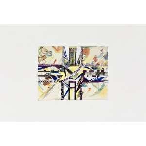 Laura Lima - Wassily Kandinsky, 1910, 49,6 x 64,8 cm, da série Souvenirs, 2013 - Caneta sobre papel - Assinado - Com moldura - 11,5 x 15 cm<br><br><b>INGLÊS</b><br>Laura Lima - Wassily Kandinsky, 1910, 49,6 x 64,8 cm, da série Souvenirs, 2013 - Pen on Paper - Signed - With Frame - 11,5 x 15 cm