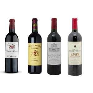 -- Chateau Montrose 2000 -- Chateau Malescot 2005 -- Grand Vin de Leoville 2000 -- Châteu Berliquet 2001
