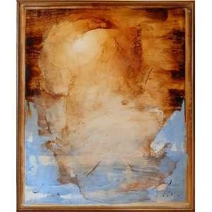 Carlos Araújo - Oração - óleo sobre tela sobre madeira - 130x110 cm - com moldura