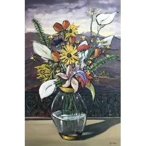 Marcio Schiaz - Flores em Ouro Preto - óleo sobre tela - 90 x 60 cm