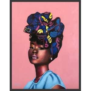 Laila Santiago - Mulher negra -acrílico sobre tela - com moldura