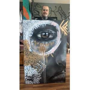 TICO CANATO - One<br /><br />Ano: 2021<br /><br />Medidas: 100x150cm<br /><br />Técnicas: Spray sobre canvas<br /><br />Canvas: 100 algodão