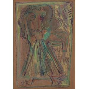 Artista: Tito Alencastro<br>Título: sem título<br>Ano: 1975<br>Técnica: bastão de óleo sobre eucatex<br>Dimensões: 70 x 50 cm<br>Doação: Moshe Sendacz
