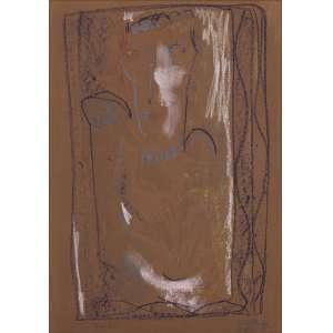"""Artista: Tito Alencastro<br>Título: """"Nefertiti""""<br>Ano: 1974<br>Técnica: bastão de óleo sobre eucatex<br>Dimensões: 70 x 50 cm<br>Doação: Moshe Sendacz"""