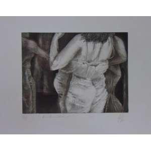 ILÊ - Gravura - V/XX - CID - Dat. 82 - 19 x 24 cm.(sem moldura) (Papel manchado)