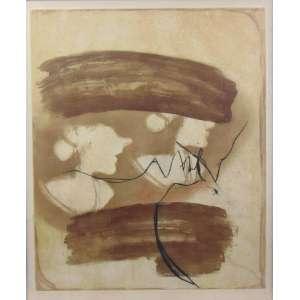 MARIA LUISA BEER - (1940) Biografia Nasceu em Buenos Aires Argentina Radicada no Brasil desde 1953, Naturalizada Brasileira - Gravura abstrato 14/15-30 - V.C - 64 x 53 cm.(Papel com mancha)