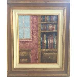 José Paulo Fonseca, Biblioteca - Óleo sobre Tela - Med. 40x30 cm