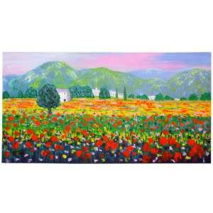 Isidro Cistaré, Campos de Espanã - Óleo sobre Tela - Med. 60 x 120 cm