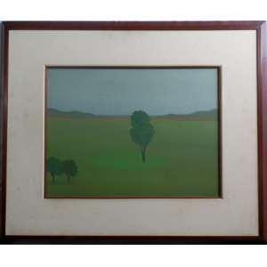 Francisco Rebolo - Paisagem , Ano 75 , nas medidas de 46 X 61 e 79 X 95 C/moldura , o.s.t., obra com certificado emitido pela filha do artista.