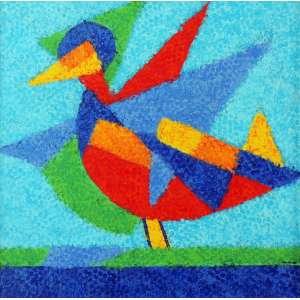 Tozzi, Cláudio – Pássaro – ASTc/sPM – nas medidas de 40 X 40 cm . Obra com certificado de autenticidade assinado pelo artista.