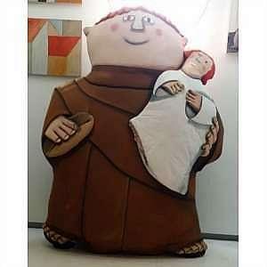 GUSTAVO ROSA, São Francisco, escultura em tecido, 177x135cm, obra fez parte da exposição Ornare, projeto arte com arte Gustavo Rosa e Suzy Gheler, com certificado do ateliê do artista.