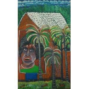 JOSÉ ANTONIO DA SILVA, Retrato da Graciete, Óleo sobre tela, datado de 1991, nas medidas de 100x60cm