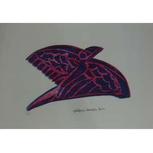 ALDEMIR MARTINS, Pássaro, gravura, tiragem 18/25, datado de 2000, assinada, 33x48cm, sem moldura