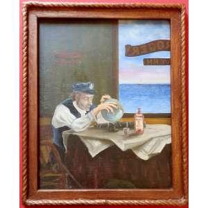 Dario - nas medidas de 61 X 48 = Obra Muito Antiga = Óleo Sobre Madeira