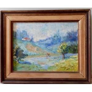 Manoel Santiago = paisagem , nas medidas de 47 X 62 e 66 X 82 Com Moldura , o.s.t., obra assinada frente e verso