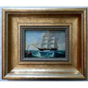 Barco - O.s.m., nas medidas de 13 X 18 e 28 X 33 com moldura