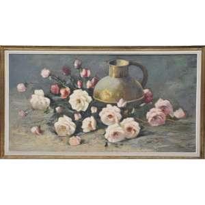 Durval Pereira = flores - nas medidas de 60 X 114 , Ost